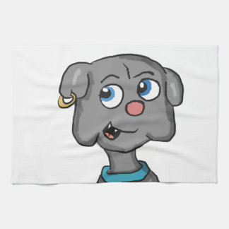 Cute Buldog Cartoon Towels
