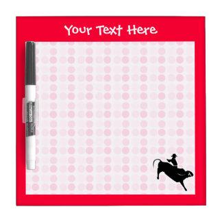 Cute Bull Rider Dry-Erase Boards
