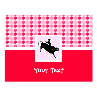 Cute Bull Rider Postcard