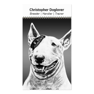 Cute Bull Terrier dog art Double-Sided Standard Business Cards (Pack Of 100)