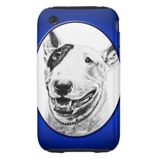 Cute Bull Terrier dog art iPhone 3 Tough Case