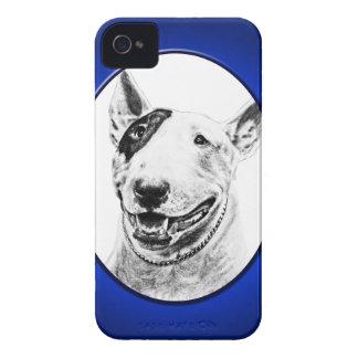 Cute Bull Terrier dog art iPhone 4 Case-Mate Case