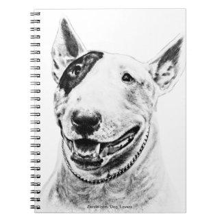 Cute Bull Terrier dog art Notebook