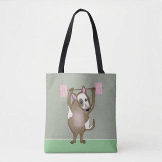 Cute Bull Terrier dog Tote Bag