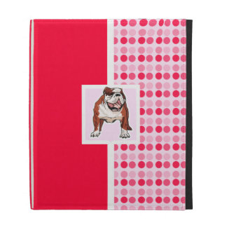 Cute Bulldog iPad Folio Cases