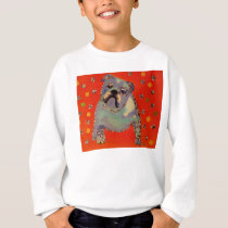 Cute Bulldog Kids Sweatshirt
