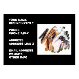 Cute Bulldog Photo Large Business Cards (Pack Of 100)