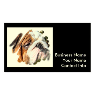 Cute Bulldog Photo Double-Sided Standard Business Cards (Pack Of 100)
