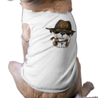 Cute Bulldog Puppy Zombie Hunter T-Shirt