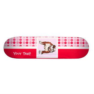 Cute Bulldog Skateboard Deck