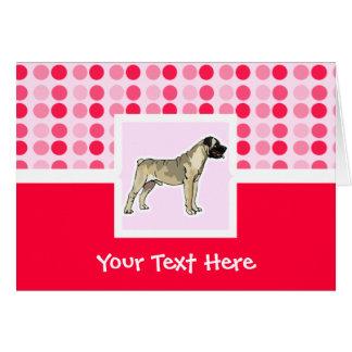 Cute Bullmastiff Card