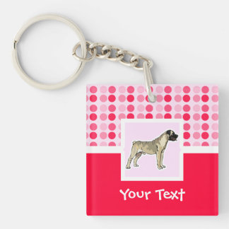 Cute Bullmastiff Double-Sided Square Acrylic Keychain