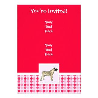 Cute Bullmastiff Custom Invites