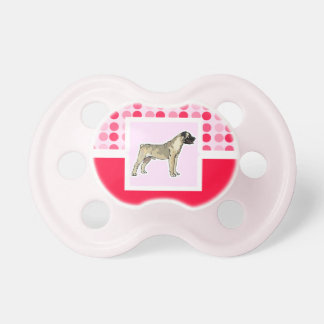 Cute Bullmastiff Baby Pacifier