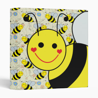 Cute Bumble Bee 3 Ring Binder