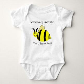 Cute Bumble Bee Aunt Loves Me Infant Shirt