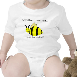 Cute Bumble Bee Aunt Loves Me Infant Shirt Romper