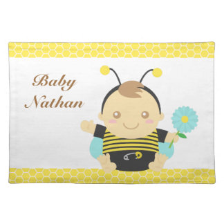 Cute Bumble Bee Baby Boy, For Toddlers Placemat