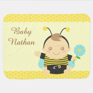 Cute Bumble Bee Baby, Cosy Baby Blanket