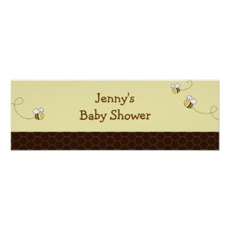 Cute Bumble Bee Baby Shower Banner Sign Poster