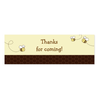 Cute Bumble Bee Baby Shower Favor Gift Tags Business Cards