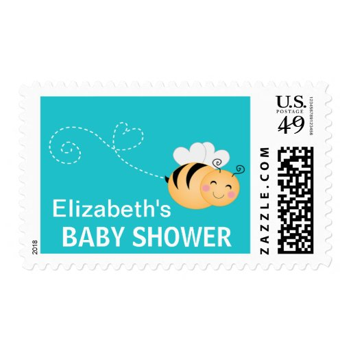 Cute Bumble Bee  Baby Shower  Postage