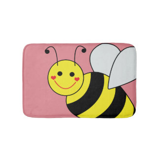 Cute Bumble Bee Bathroom Mat