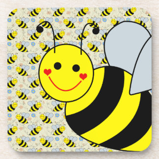 Cute Bumble Bee Beverage Coaster