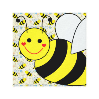 Cute Bumble Bee Canvas Print