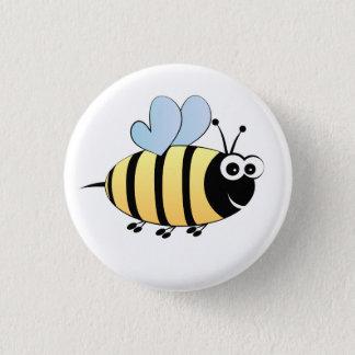 Cute bumble bee cartoon button