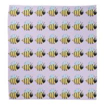 Cute bumble bee cartoon kids bandana