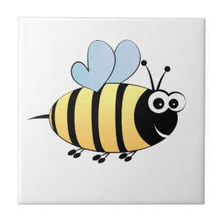Cute Bumble Bee Cartoon Kids Ceramic Tile