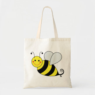 Cute Bumble Bee Cartoon Tote Bag