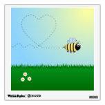 Cute bumble bee cartoon wall sticker