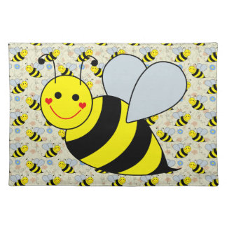 Cute Bumble Bee Cloth Placemat