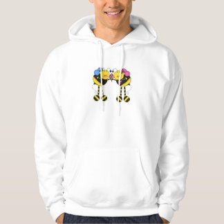 Cute Bumble Bee Couple With Flowers Hoodie