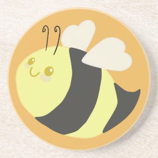 Cute Bumble Bee Drink Coaster