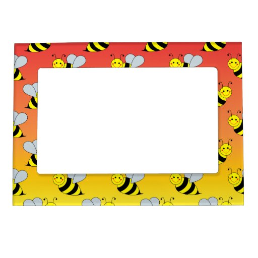 Cute Bumble Bee Frame Magnet Zazzle