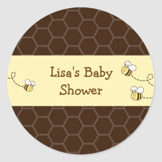 Cute Bumble Bee Honeycomb Envelope Seals Stickers