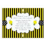 "Cute Bumble Bee Invitation 4.5"" X 6.25"" Invitation Card"