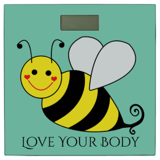 Cute Bumble Bee Love Your Body Bathroom Scale
