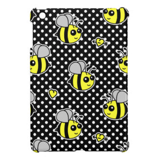 Cute Bumble Bee Pattern Black Cover For The iPad Mini