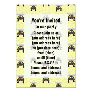 Cute Bumble Bee Pattern Card