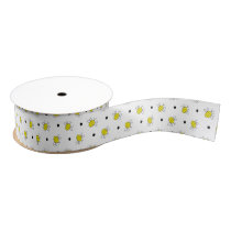 Cute Bumble Bee Pattern Grosgrain Ribbon
