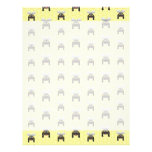 Cute Bumble Bee Pattern Personalized Letterhead