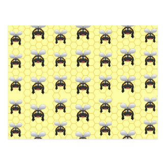 Cute Bumble Bee Pattern Postcard