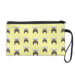 Cute Bumble Bee Pattern Wristlet Clutches
