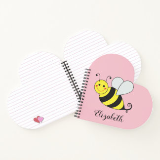Cute Bumble Bee Personalize Notebook