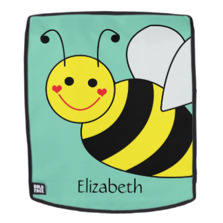 Cute Bumble Bee Personalized Backpack