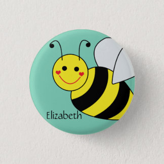 Cute Bumble Bee Personalized Button